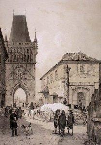 Broporten i gamlebyen i Praha