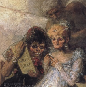 "Detail image of the Goya painting ""Time."""
