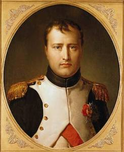 XIR161736 Portrait of Napoleon (1769-1821) in Uniform (oil on canvas) by Gerard, Francois Pascal Simon, Baron (1770-1837) oil on canvas 73x59 Private Collection Lauros / Giraudon French, out of copyright